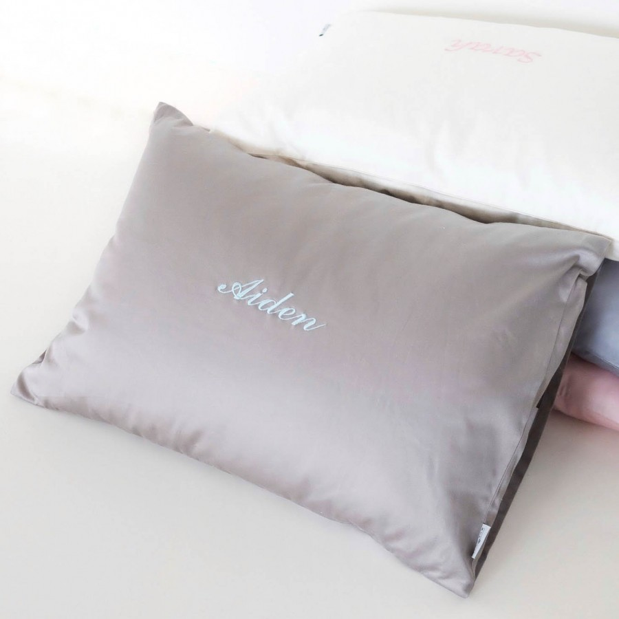 500-Thread-Count PIMA Cotton Sateen Pillow - Charcoal