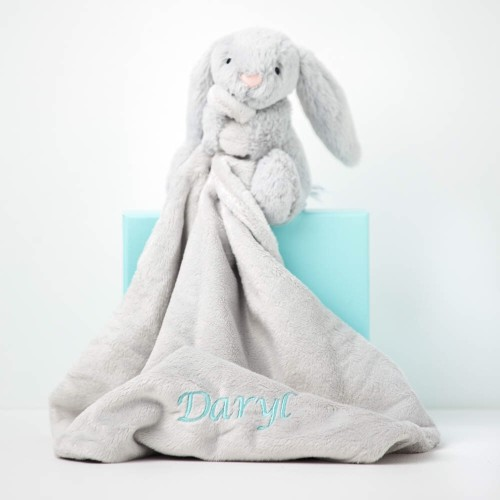 Bashful Bunny Soother - Silver