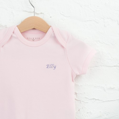 Embroidered Tee - Pink