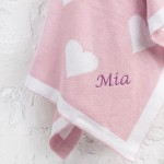 Soft Knit Blanket - Pink Heart