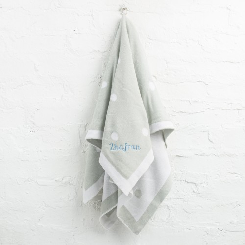 Soft Knit Blanket - Grey Bubbles (Out of Stock)
