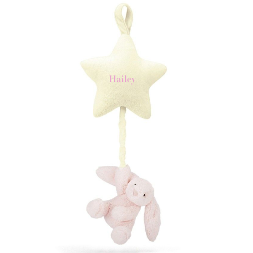 Musical Pull - Bashful Pink Bunny Star