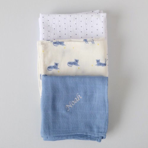 Muslin Squares 3 Pack - Safari Dream (Out of Stock)