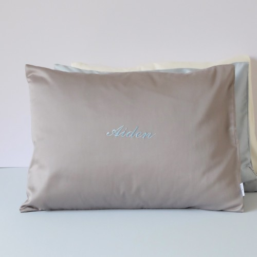 500-Thread-Count PIMA Cotton Sateen Pillow - Charcoal (Out of Stock)