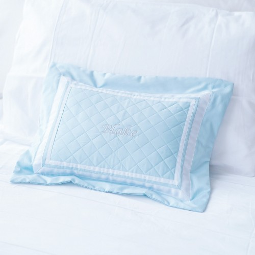 500 Thread Count PIMA Cotton Quilted Pillow - Sky
