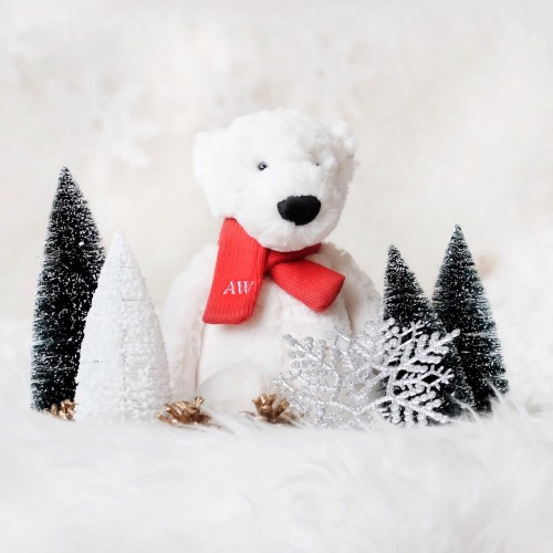 Holiday '18 - Bashful Polar Bear with Scarf