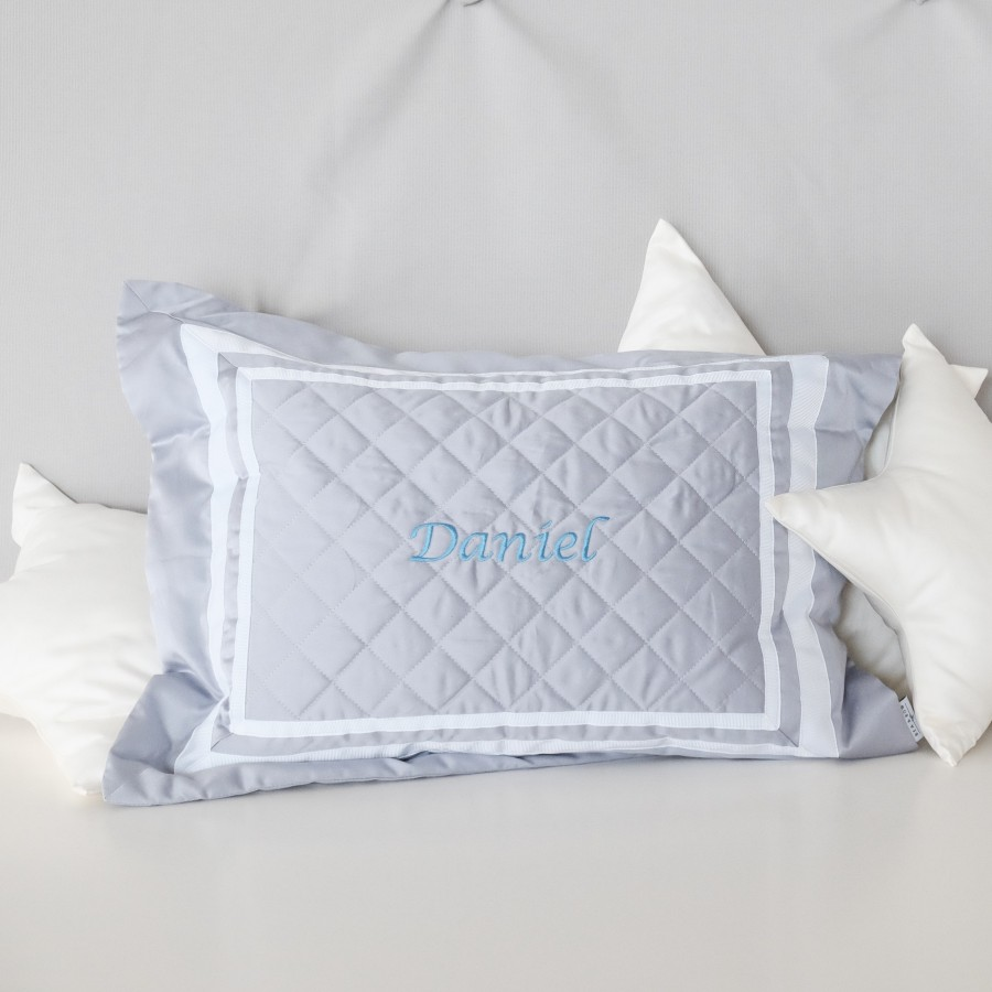 500 Thread Count PIMA Cotton Quilted Pillow - Mist (Out of Stock)