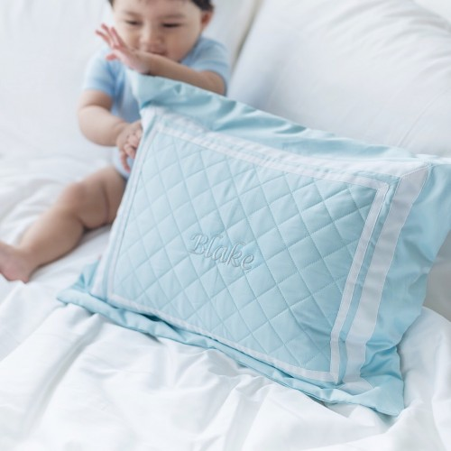 500 Thread Count PIMA Cotton Quilted Pillow - Fresh Mint