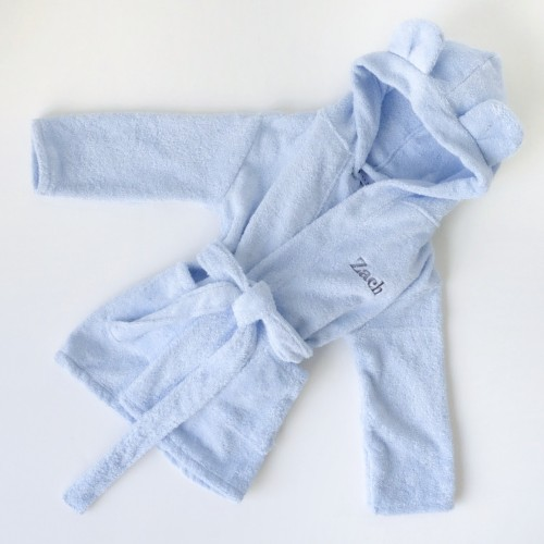 Hooded Bathrobe - Blue