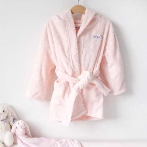 Hooded Bathrobe - Blush