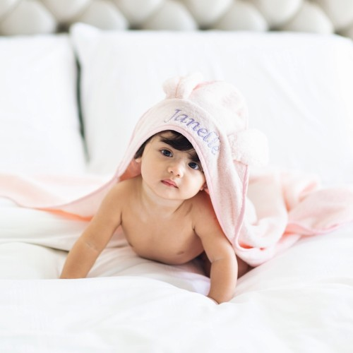 Blush Bunny Hooded Towel