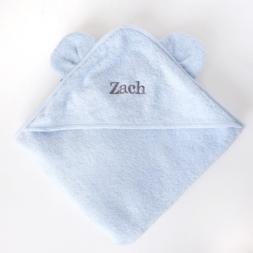 Blue Bear Hooded Towel
