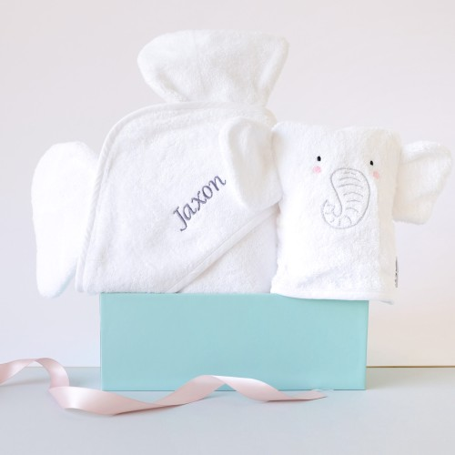 White Elephant Hooded Towel & Bath Mitt (Out of Stock)