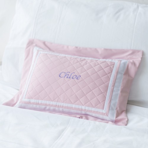 500 Thread Count PIMA Cotton Quilted Pillow - Rose